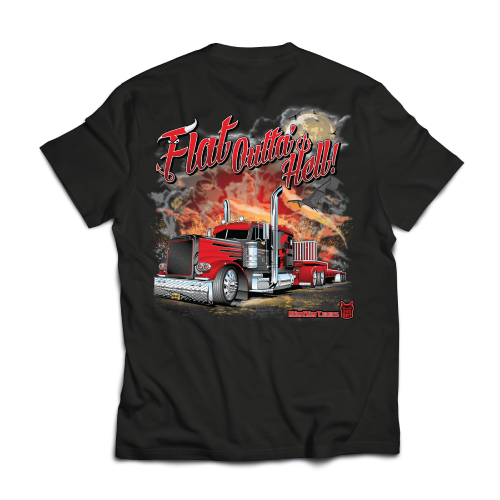 Flat Outta Hell – Big Rig Tees