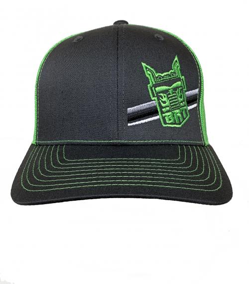 Richardson Charcoal/Neon Green Hat –