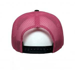 R112 Charcoal Neon Pink BRT Stripe Back View –