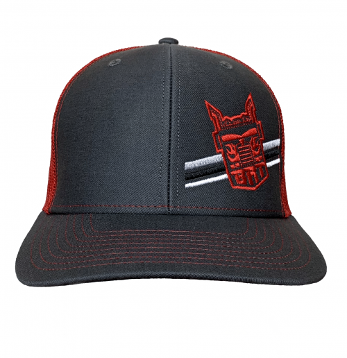 Richardson Charcoal/Red Hat – Big Rig Tees